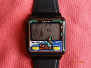 "Vintage CASIO GS-20 ""Super Windsurfing"" Game & Watch (919 Module) LCD Digital"