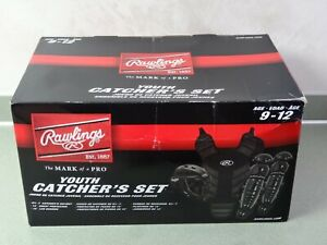 Rawlings BASEBALL CATCHER'S Gear Complete Set~ 2020 Youth Ages 9-12 Brand New!