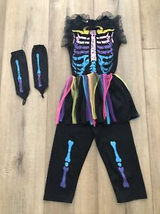 Pre-Owned Halloween Skeleton Costume Size 4-6
