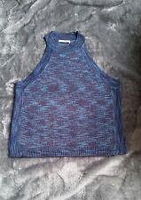 Size 18 Blue Summer Knit Sleeveless High Neck Jumper (NWT)