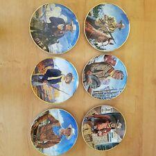 Set of 6 Franklin Mint Collectible John Wayne Plates by Robert Tanenbaum -Boxes!