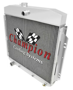 4 Row Western Champion Radiator for 1957 1958 1959 1960 Ford F-100