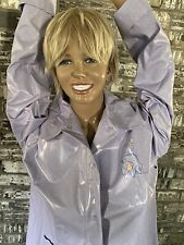 Disney Adult Eor PVC Vinyl Purple Raincoat Slicker/Rain Jacket/Coat