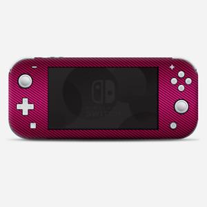 Skins Decals wrap for Nintendo Switch Lite - Pink,black carbon fiber look