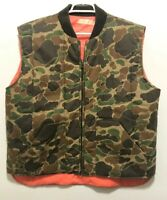 NBC Grimm TV Show Prop Wardrobe Camouflage Hunting Vest Size XL Orange Lining