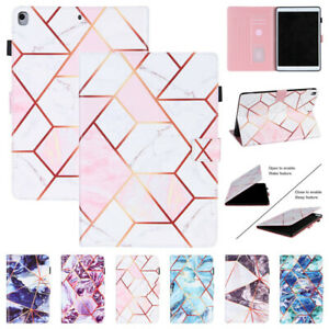 """Marble Leather Smart Stand Case Cover For iPad 9.7 10.2 11 10.9"""" 2020/19/18 Mini"""
