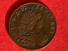 Jeton cuivre Louis XV soleil levant l'enfance du roi 1718