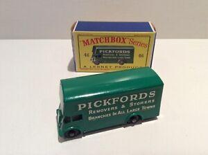 Matchbox Reg wheels 46b, Pickfords Removals, Guy Van , mint boxed