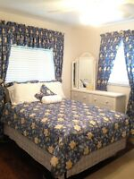 Laura Ashley Emilie Vintage 16-PC: Full Sz Bedding Set, Curtains, Tissue Holder