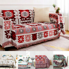 Fringed Throw Soft Blanket Wall Hanging Cotton Bedding Sofa Couch Cover Area Rug