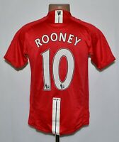 MANCHESTER UNITED 2007/2008/2009 HOME FOOTBALL SHIRT NIKE #10 ROONEY SIZE S