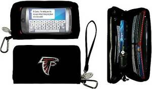 NFL WOMEN'S CELL PHONE WALLET DELUXE CHARM 14 SUPERBOWL 2017 CHOOSE YOUR TEAM