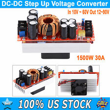 1500w 30a Dc Dc Boost Converter Step Up Power Supply Module 10 60v To 12 90v Usa