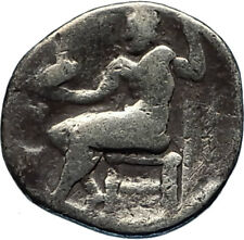 ALEXANDER III the GREAT 323BC Authentic Ancient Silver Greek Coin w Zeus i65685