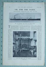 1914 WW1 Imprimé San Fraterno Huile Citerne Pompe Salle Intérieur pour Flotte