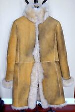ANNE KLEIN Toscana Lamb Shearling Jacket Coat Sz.14 (fits 8-10) Classic Chic!