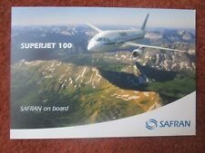 DOCUMENT FORMAT CARTE POSTALE SAFRAN SUKHOI SUPERJET 100 SAGEM SNECMA MESSIER