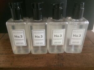 Aldi No3 Pomegranate Luxury Hand & Body Wash Pump Dispenser Hotel Collection X 4