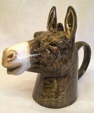 More details for quail ceramic donkey half pint jug or creamer - farm farmyard animal figure