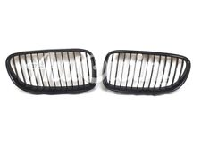 BMW 3 SERIES E92 E93 LCI Genuine Front Left and Right Trim Kidney Grilles Black