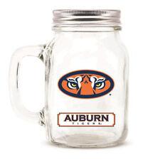 Auburn Tigers Mason Jar - 20oz Glass With Lid [NEW] NCAA Mug Pint CDG