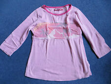 Genuine Quiksilver Roxy pink tshirt with logo size 4 ladies small or girls large