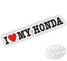 I Heart Love mi Honda Civic Moto Auto Adhesivo Etiqueta
