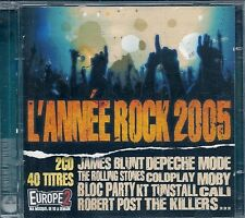 2 CD COMPIL 40 TITRES--ANNEE ROCK 2005--BLUNT/DEPECHE MODE/STONES/COLDPLAY/MOBY