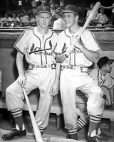 St Louis Cardinals STAN MUSIAL & RED SCHOENDIENST Glossy 8x10 Photo Poster Print