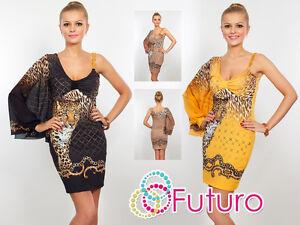Unique Exclusive Dress Cheetah Pattern Bodycon Tunic Style Sizes 8-12 FC13