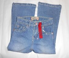 The Childrens Place Toddler Girls Adjustable Waist Flare 1989 Glitter Jeans 4T