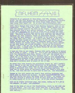 VINTAGE SCIENCE FICTION FANZINE #354 - NIFLHEIM #16