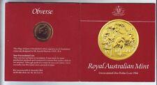 1984 $1 UNC Coin Australia in Folder First Year Issue dollar Coin in Australia