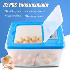 32 Eggs Automatic Poultry Incubator Hatcher Water Incubation W/ Egg Candler 220V