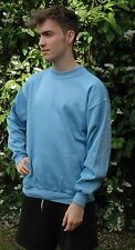 Light Blue Sweatshirt Childrens Boys Girls Sizes  Poly/Cotton Made in The UK