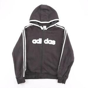 Vintage ADIDAS  Black 00s Zip Up Hoodie Womens M