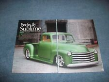 """1948 Chevy 3100 5-Window Custom Pickup Truck Article """"Perfectly Sublime"""""""