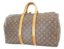 Authentic LOUIS VUITTON Keepall 45 Monogram Canvas Duffel Bag #37562
