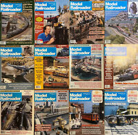 Lot of 12 issues of 1988 and 1992 Model Railroader magazines