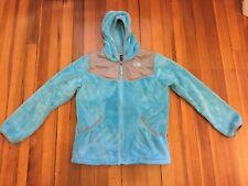 North Face Girls XL (18) Oso Hoodie Fleece Jacket Origin Blue