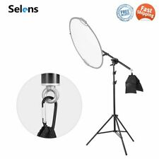 Selens 2M Light Stand Reflector Holder Arm Boom Extend 66-180cm Studio Photo Kit