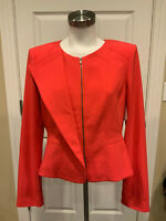 BCBG Max Azria Poppy Pink Edward Jacket, Size Large