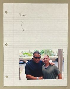 Muhammad Ali Signed Notepad Page Autograph + Sketch Drawing JSA LOA Boxing HOF