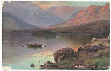 Lake Coomasharen, Glenbeigh, 1905 artist-signed Ernest Longstaffe postcard