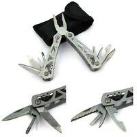 Outdoor Survival Stainless Steel Folding Multi Tool Portable Mini Pocket Knife