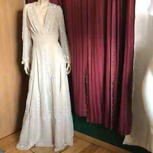 Vintage Handcrafted Beaded Evening Gown
