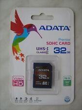 ADATA Premier 32GB SDHC card UHS-I Class 10 memory SD V10 50MB/s Full HD Video