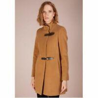 RRP £270 - RALPH LAUREN WINTER COAT Camel Buckle Wool Mac Longline Jacket UK 10