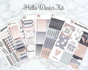 Hello Winter Weekly Sticker Kit for the Erin Condren Vertical Planner