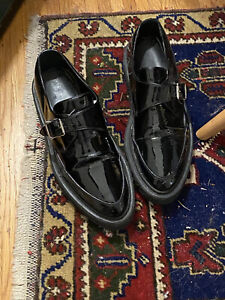 Iconic Yves Saint Laurent Black Patent Leather Peepers Size 9 US W